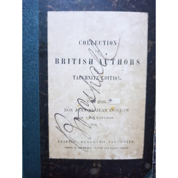 Collection of British authors, vol. I